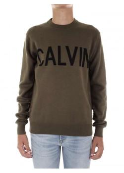 KOMBINOVANÝ BAVLNENÝ SVETER Calvin Klein
