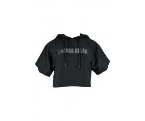 Calvin Klein dámsk top Cropper Hoodie black
