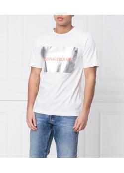 Calvin Klein pánske tričko Logo Silver