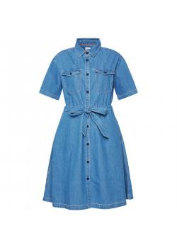 Dámske jeansové šaty Tommy Hilfiger DW0DW10215