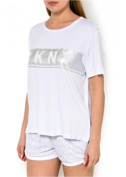 Dámske biele tričko DKNY TEE YI2419411