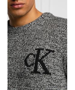 Dámsky sveter Calvin Klein Tmavosivý