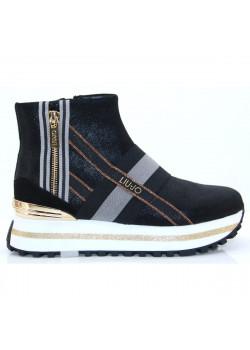 Čelenkové topánky LIU-JO black and gold