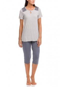 Dámske pyžamko Vamp s kratšími nohavicami