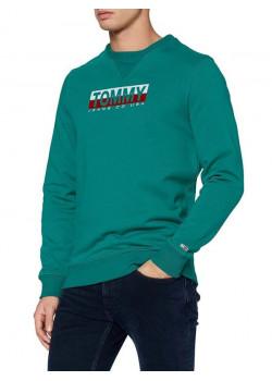 Pánska mikina Tommy Hilfiger zelená