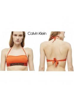 Calvin Klein dámska plavková podpsenka Mandarin Red