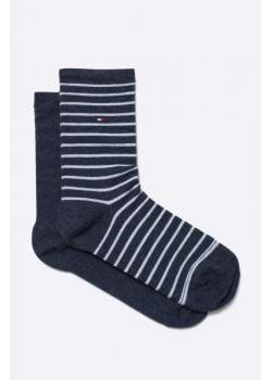 Tommy Hilfiger dámske ponožky navy (2-pak)