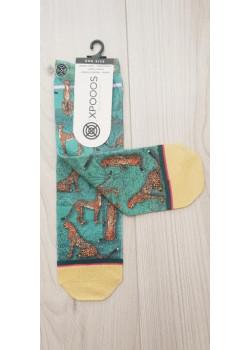XPOOOS dámske ponožky vzor Gepard