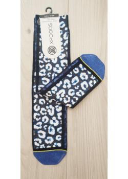 XPOOOS dámske ponožky vzor modrý Tiger