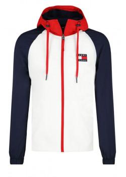 Tommy Jeans - pánska bunda  White Colorblock Jacket