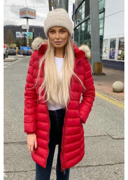 Dámska zimná bunda s kožušinou Tommy Jean