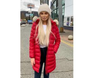 Dámska zimná bunda s kožušinou Tommy Jeans