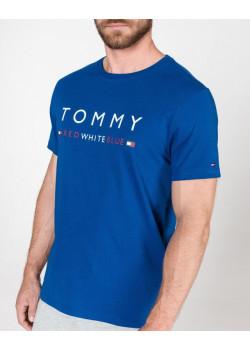 Tommy Hilfiger pánske tričko Logo Blue