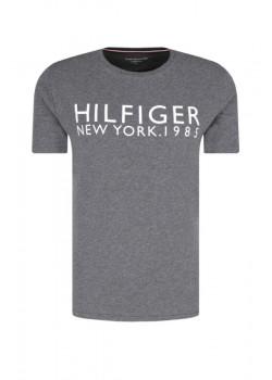 Pánske tričko Tommy Hilfiger logo Grey