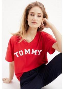 Dámske červené tričko Tommy Hilfiger