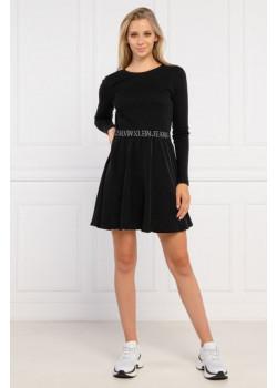 Dámske šaty Calvin Klein v čiernej farbe