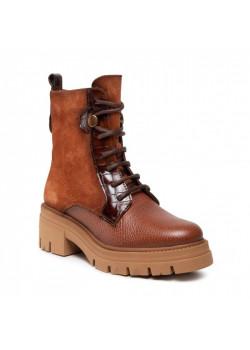 Členkové topánky Hispanitas hnedé