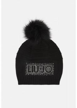 Čierna dámska čiapka značky LIU jO