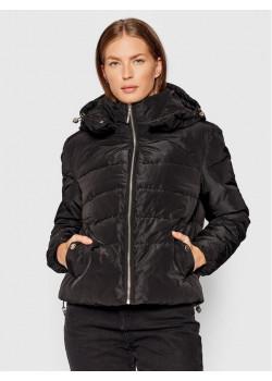 Prešívaná dámska bunda čierna