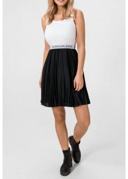 čiernobiele šaty Calvin Klein