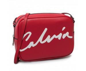 štýlovka kabelka Calvin Klein red