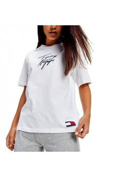 Biele tričko Tommy Hilfiger logo