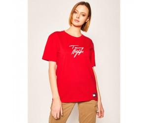 Červené tričko Tommy Hilfiger logo